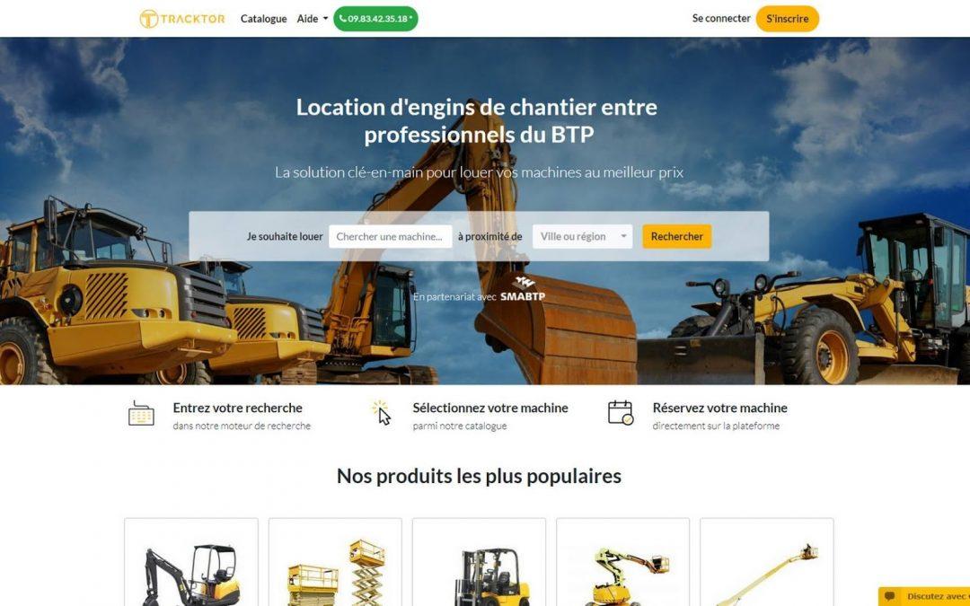 Tracktor, la plateforme en ligne qui facilite la location de matériel BTP et industriel aux professionnels